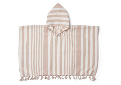 Liewood Poncho Roomie Stripe Rose/Creme de la creme