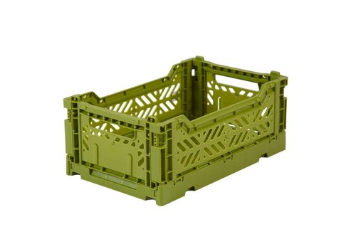 Aykasa Foldable crate mini olive