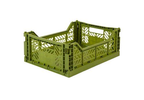 Aykasa Foldable crate midi olive