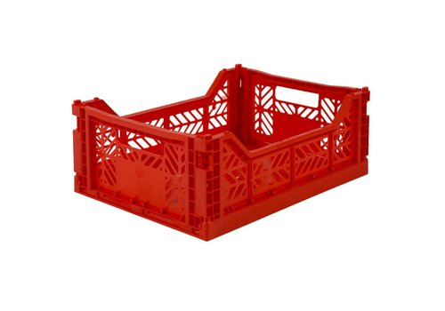 Aykasa Foldable crate midi red