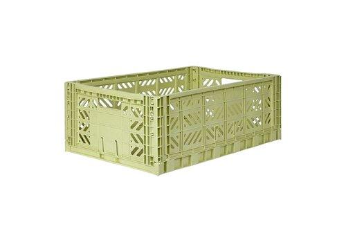 Aykasa Foldable crate maxi lime cream