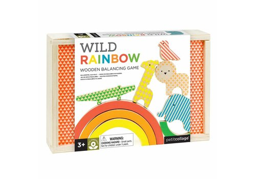 Petit Collage Wooden balancing game - Wild rainbow