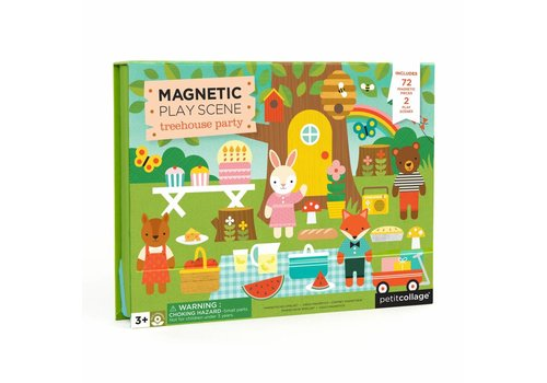 Petit Collage Magnetic Play scene - Treehouse party