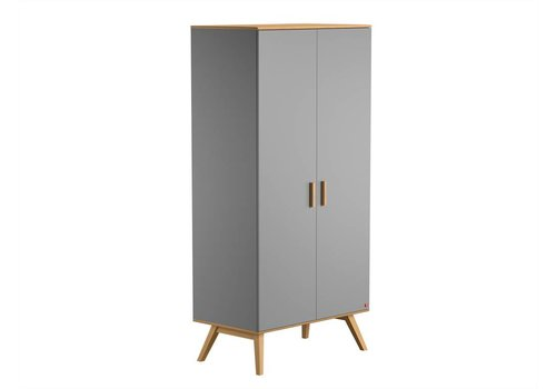 Vox NAUTIS 2-door wardrobe light grey/oak