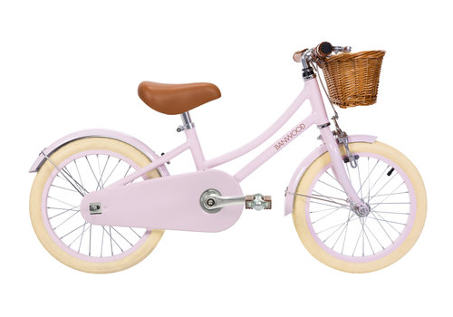 "Banwood Bicycle 16"" with training wheels CLASSIC Pink"