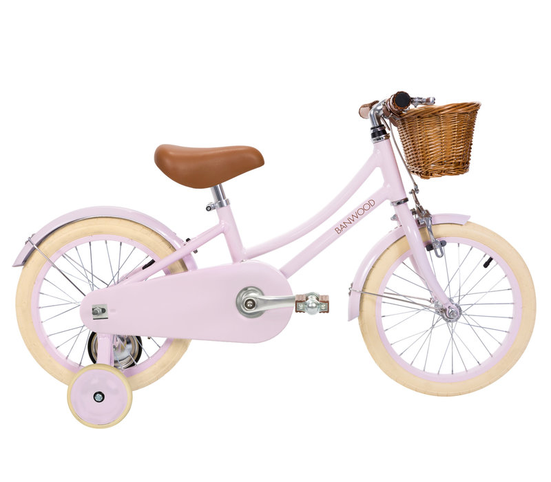"Bicycle 16"" with training wheels CLASSIC Pink"