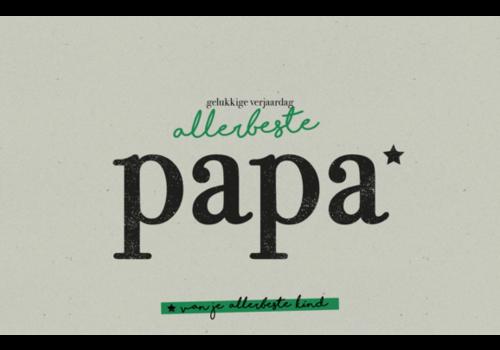 Leuke Kaartjes Karoo Allerbeste papa