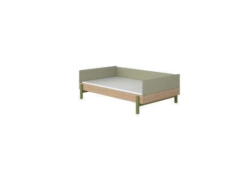 Flexa POPSICLE Bedbank 120cm oak/kiwi