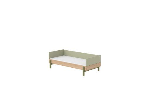 Flexa POPSICLE Bedbank 90cm oak/kiwi