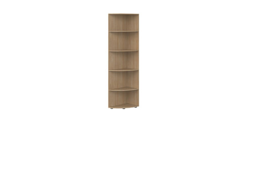 Flexa POPSICLE Corner bookcase 4 shelves oak