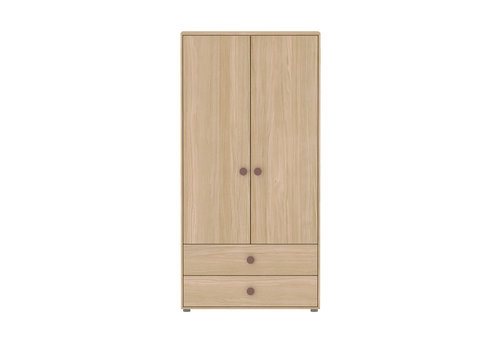 Flexa POPSICLE High wardrobe 2-doors oak/cherry