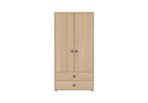 Flexa POPSICLE High wardrobe 2-doors oak/kiwi