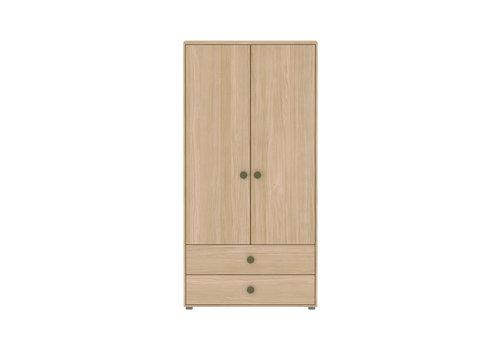 Flexa POPSICLE Kleerkast 2-deurs oak/kiwi