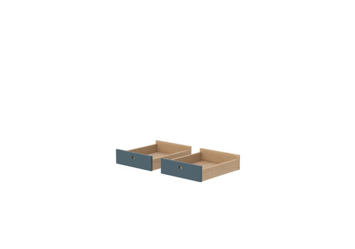 Flexa POPSICLE Drawers for desk set of 2 pcs oak/blueberry