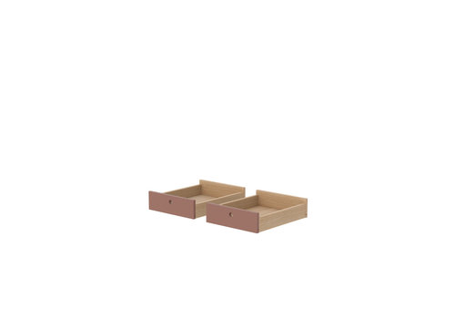 Flexa POPSICLE Drawers for desk set of 2 pcs oak/cherry