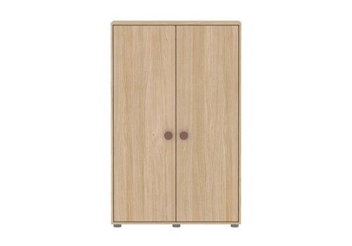 Flexa POPSICLE Lage kleerkast 2-deurs oak/cherry