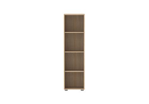 Flexa POPSICLE Narrow bookcase 3 shelves oak