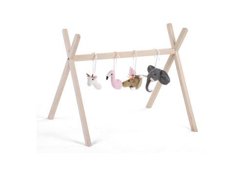 Childhome Gym toys Felt animals set of 4