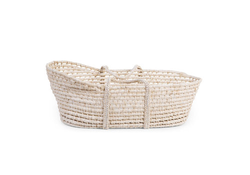 Childhome Moses Basket New Soft Corn Husk Natural (incl. Mattres)