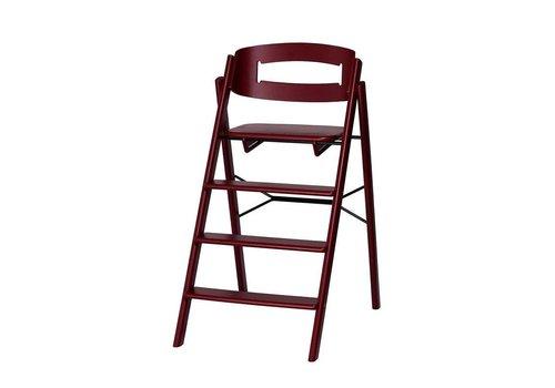 KAOS Klapp high chair beech wine red