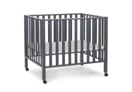 Childhome Playpen 94 Beech Anthracite + Wheels