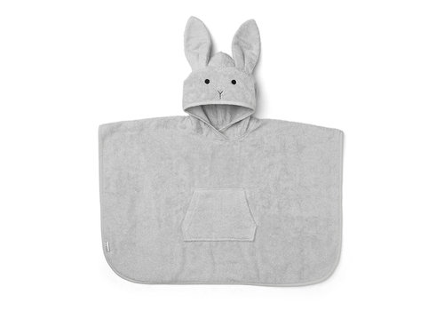Liewood poncho Orla Rabbit dumbo grey