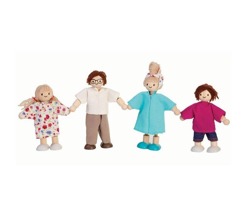 Moderne poppenfamilie
