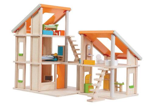 PlanToys Chalet poppenhuis met meubels