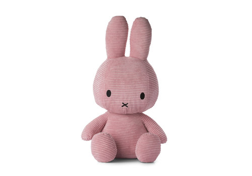 Nijntje Miffy Sitting Corduroy Pink - 50cm
