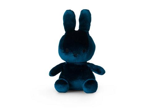 Nijntje Miffy Sitting Velvet Dark Teal - 23cm