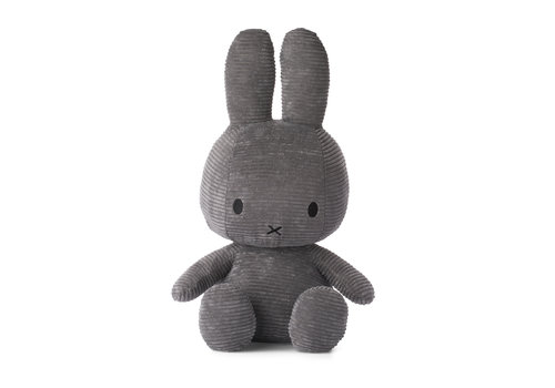 Nijntje Miffy Sitting Corduroy Grey - 23cm