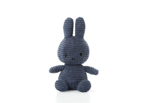 Nijntje Miffy Sitting Corduroy Blue - 23cm