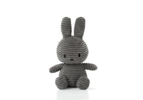 Nijntje Miffy Sitting Corduroy Grey - 50cm