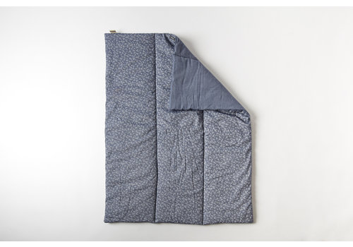mundo melocotón Quilted blanket / play pen mat 75x95   billie blue