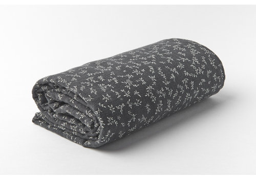 mundo melocotón Swaddle organic muslin large billie grey