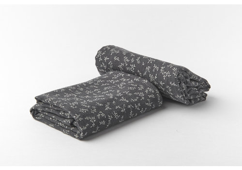 mundo melocotón Swaddle organic muslin small 2st billie grey