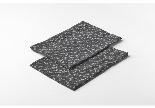 mundo melocotón Wash cloth organic muslin 2st billie grey