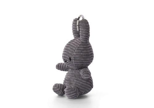 Nijntje Miffy Keychain Corduroy Dark Grey - 10cm