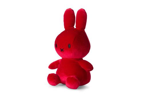 Nijntje Miffy Sitting Velvet Candy Red - 23cm