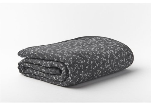 mundo melocotón Quilted blanket / play pen mat 75x95   billie grey