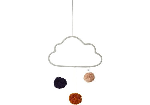 Liewood Odin cloud Mobiel  Dumbo grey
