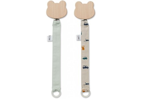Liewood Sia pacifier strap 2 pack  cars