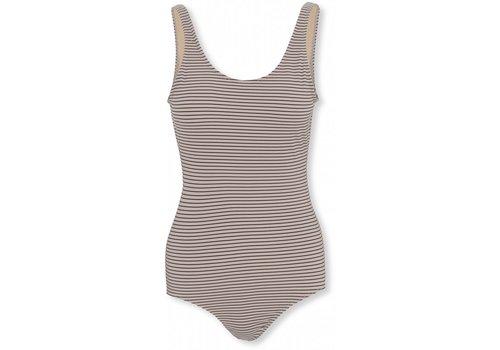 Konges Sløjd Soleil mommy swimsuit striped bordeaux
