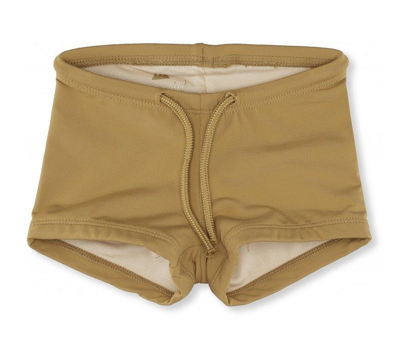 Soleil uni swim shorts mustard
