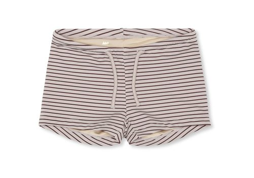 Konges Sløjd Soleil uni swim shorts striped bordeaux