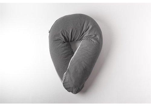 mundo melocotón nursing pillow cover La Línea anthracite