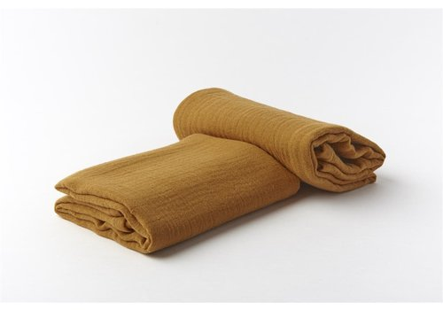 mundo melocotón Swaddle organic muslin small set of 2 cinnamon