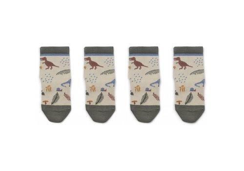 Liewood Silas socks 2pcs Dino mix