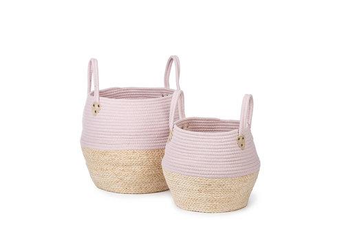 KidsDepot Kori basket pink 2 pcs