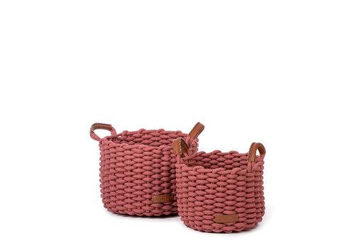 KidsDepot Korbo basket M 2 pcs  Coral
